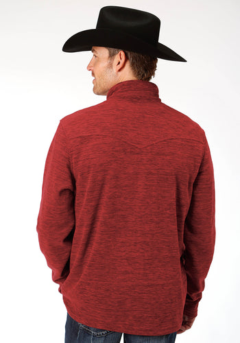 Roper Outerwear- Men's Outer Mens Jacket 9364 Cationic Red Micro Fleece Jacket