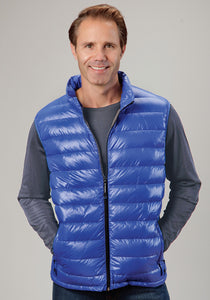 Roper Outerwear- Men's Outer Mens Vest 0702 Royal Blue Wcharcoal Lining