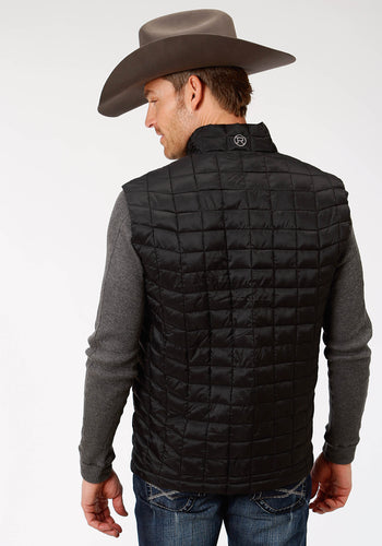 Roper Outerwear- Men's Outer Mens Vest 4043 Black Ripstop Poly Filled Vest