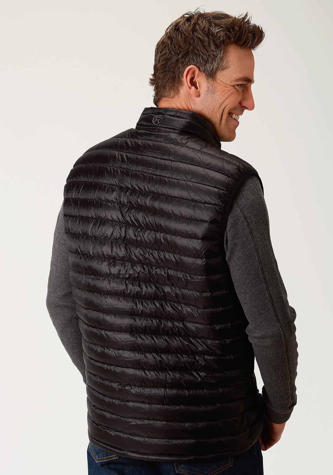 Roper Outerwear- Men's Outer Mens Vest 2384 Black Ripstop