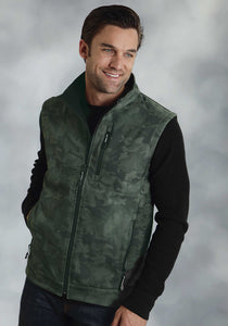 Roper Outerwear- Men's Outer Mens Jacket Printed Camo On Soft Shell Vest