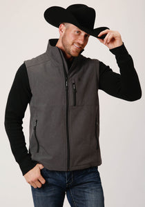 Roper Outerwear- Men's Outer Mens Jacket 00428 Heathered Gy Softshell Vest