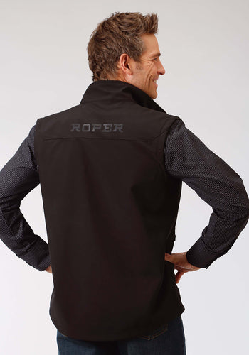 Roper Outerwear- Men's Outer Mens Vest 1324 Black With Black Mesh Backing