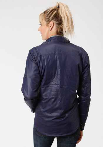 Outer Womens Jacket 9389 Navy Polyflannel Reversible Jkt