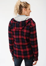 Outer Womens Jacket 4015 Pinkblack Plaid Flannel