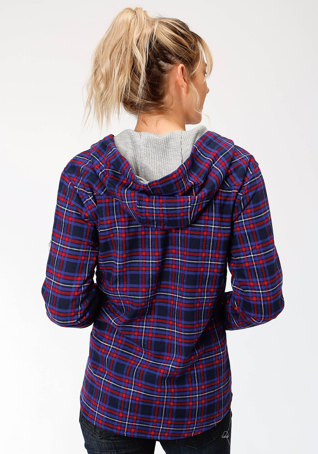 Outer Womens Jacket 4015 Royalred Flannel Plaid