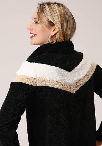 Roper Outerwear- Women's Outer Womens Jacket 00529 Fuzzy Chevron Fleece Pull Over