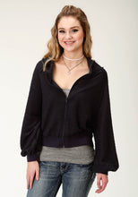 Five Star Collection- Fall I 5star Womens Jacket 2254 Textured Knit Hooded Zip Jacket