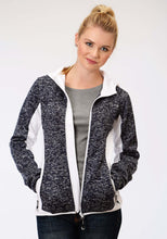 Roper Outerwear- Ladies Outer Womens Jacket 1465 Navy Melange Sweater Jacket
