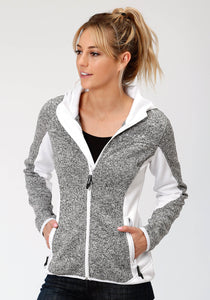 Roper Outerwear- Ladies Outer Womens Jacket 3962 Black White Melange