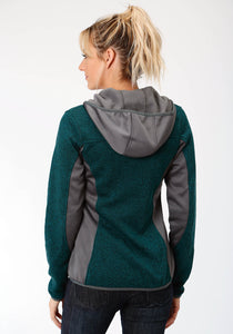 Roper Outerwear- Ladies Outer Womens Jacket 3962 Dk Teal Charcoal Melange