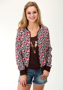 Five Star- Summer Iii 5star Womens Jacket 1733 Country Floral Prt Rayon Jacket