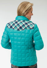 Roper Outerwear- Ladies Outer Womens Jacket 0702c7 Turquoise