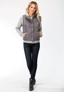 Roper Outerwear- Ladies Outer Womens Jacket 3990 Quilted Micro Fiber Snap Frt Jckt