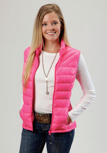 Roper Outerwear- Ladies Outer Womens Vest 0702c6 Pink - Down Proof Coated