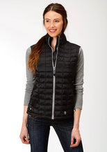 Roper Outerwear- Ladies Outer Womens Vest 4043 Black Ripstop Poly Filled Vest