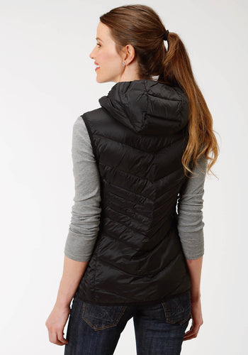 Roper Outerwear- Ladies Outer Womens Vest 4043 Down Proof Coated Vest Whood