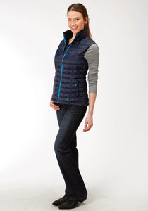 Roper Outerwear- Ladies Outer Womens Vest 4043 Poly Filled Nylon Vest