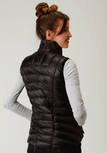 Roper Outerwear- Ladies Outer Womens Vest 2384 Black Ripstop