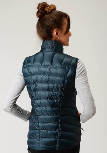 Roper Outerwear- Ladies Outer Womens Vest 2384 Teal Ripstop