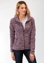Roper Outerwear- Ladies Outer Womens Jacket 3949 Cationic Plum Micro Fleece