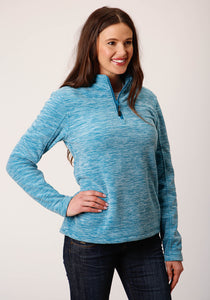 Roper Outerwear- Women's Outer Womens Jacket 00511 Teal Fleece 34 Slv Pull Over