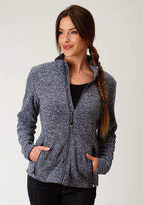 Roper Outerwear- Ladies Outer Womens Jacket Micro Fleece Jacket - Cationic Navy