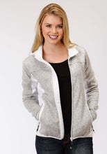 Roper Outerwear- Ladies Outer Womens Jacket 1465 Grey Melange Jacket With Hood