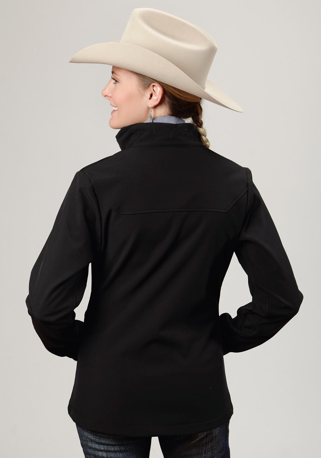 Roper Outerwear- Ladies Outer Womens Jacket 0699c1 Black W Black