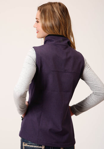 Roper Outerwear- Women's Outer Womens Vest 00428 Textured Eggpland Softshell Vest