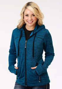 Roper Outerwear- Ladies Outer Womens Jacket 1466 Peacock Blueblack Jacket