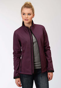 Roper Outerwear- Ladies Outer Womens Jacket 1394 Navy Fuscia Geop Print
