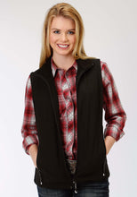 Roper Outerwear- Ladies Outer Womens Vest 1321 Black Softshell Vest