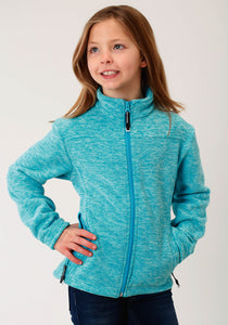 Roper Outerwear- Girls Outer Girls Jacket Micro Fleece Jacket - Cationic Turq