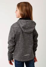 Roper Outerwear- Girls Outer Girls Jacket 2344 Cationic Grey Bonded Wblk Fleece