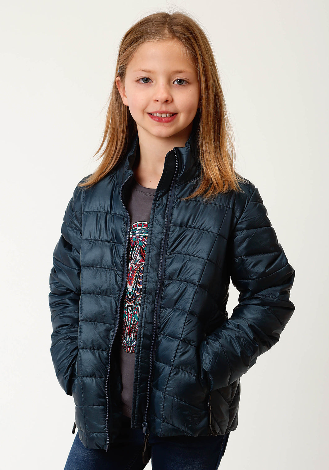 Roper Outerwear- Girls Outer Girls Jacket 2384 Teal Ripstop