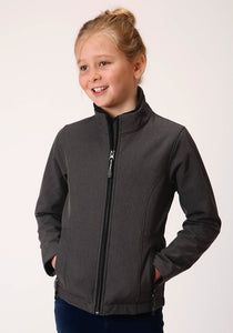 Roper Outerwear- Girl's Outer Girls Jacket 00428 Heathered Gy Softshell Jacket