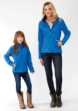 Roper Outerwear- Girls Outer Girls Jacket 9429 Marine Blue Navy Fleece Backing