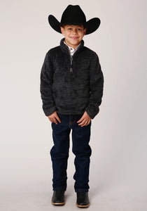 Roper Outerwear- Boy's Outer Boys Jacket 00530 Melange Fleece 34 Zip Frt Po