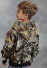Roper Outerwear- Boys Outer Boys Jacket Printed Camo On Bonded Fleece Hoodie
