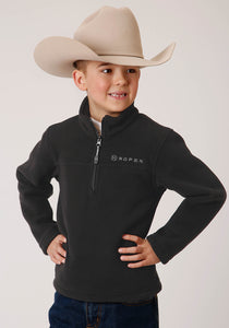 Roper Outerwear- Boy's Outer Boys Jacket 00510 Cationic Charcoal Micro Fleece