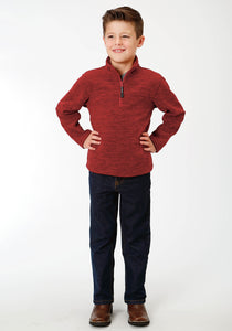 Roper Outerwear- Boys Outer Boys Jacket 9364 Cationic Red Micro Fleece Jacket