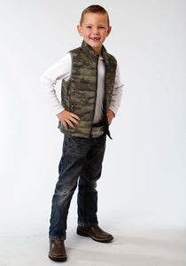 Roper Outerwear- Boys Outer Boys Vest 1410 Dull Camo Print