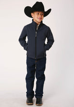 Roper Outerwear- Boy's Outer Boys Jacket 00428 Textured Blue Softshell Jacket