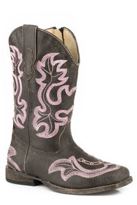 "Caroline Boot Toddlers Boot 6.5"" Shaft With Western Emb Vampshaft"