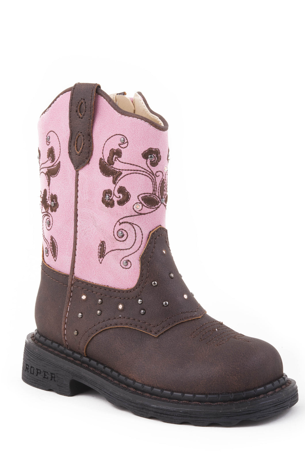 Saddle Light Boot Infant Boots Brown Vamppink Shaft Saddle Vamp