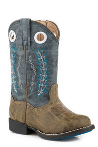 "Hole In The Wall Boot Toddlers Boots 7.5"" Shaft With Embroidered Pull Holes"