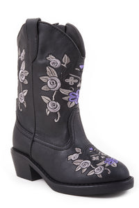 Flower Power Boot Infant Boot Snip-toe Boot With Floral Design