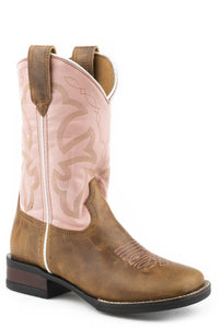 Monterey Boot Little Kids Boots Tan Burnished Leather Vamp