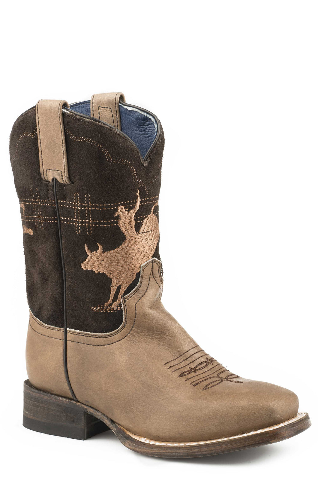 Marley Boot Little Kids Boots Burnish Tan Vamp Brown Suede Shaft